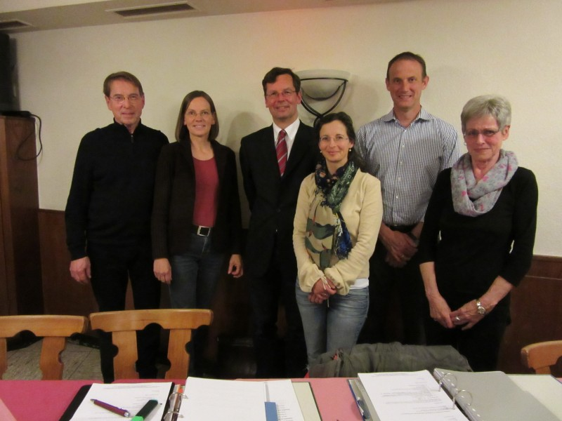 v.l.n.r. Walter Riha, Monika Goldammer, Thomas Klodt, Tonja Vorhauser, Norbert Dippel, Monika Siegel